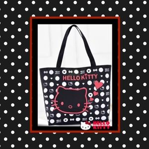 Hello kitty large canvas shopping shoulder bag.NWT